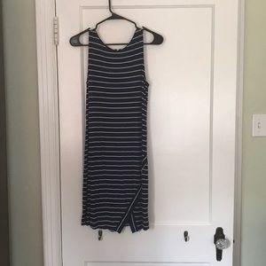 Navy Stripped jersey knit dress by Kensie